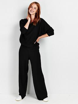 wallis-jersey-wide-leg-trousers-blacknbsp