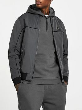 river-island-dyer-racer-jacket-grey