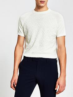 river-island-textured-knitted-t-shirt-whitenbsp