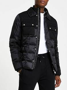 river-island-shirt-collar-padded-jacket-black