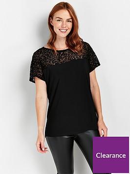 wallis-animal-devore-t-shirt-black