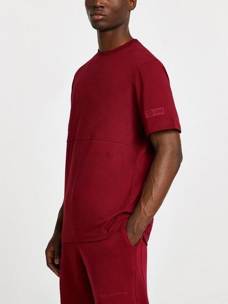 river-island-ri-one-plain-short-sleeve-t-shirt-red