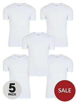 river-island-muscle-fitnbspt-shirt-5-packnbsp--white