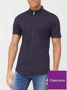 river-island-muscle-oxford-shirt-navynbsp