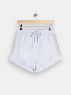 topshop-panel-diamante-shorts-grey