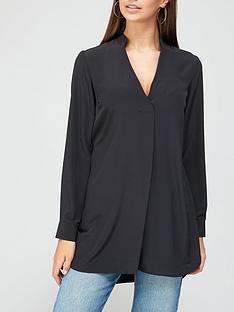 v-by-very-longline-notch-neck-tunic-black