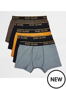 river-island-geo-print-trunks-5-pack-mustardnbsp