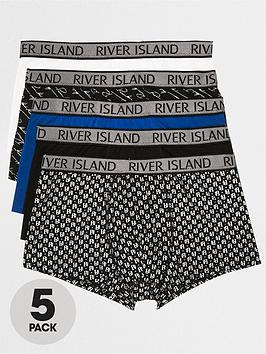 river-island-monogram-trunks-bluemulti