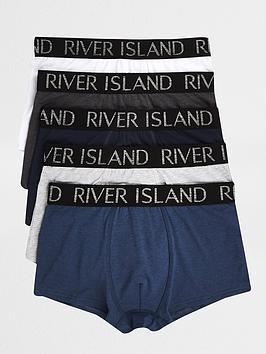 river-island-metallicnbsptrunks-5-pack-bluenbsp