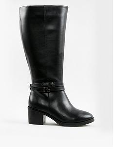 evans-high-pu-heeled-boots-black