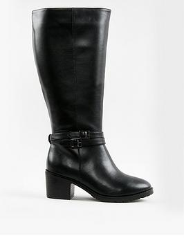 evans-high-pu-heeled-boots--nbspblacknbsp