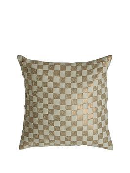 premier-housewares-kensington-townhouse-checkerboard-cushion-gold
