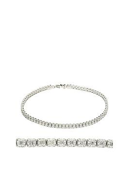 moissanite-moisssanite-9ct-white-gold-25ct-stone-tennis-bracelet