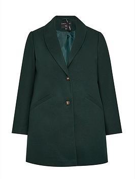 dorothy-perkins-curve-minimal-shawl-collar-coat-greennbsp