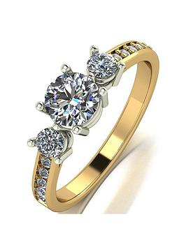 moissanite-moissanite-9ct-yellow-gold-1ct-equivalent-trilogy-ring