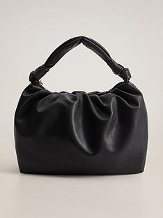 mango-knotted-handle-bag-black