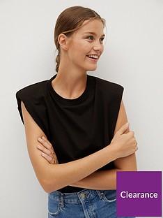 mango-padded-shoulder-tee-black