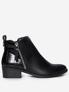 dorothy-perkins-macro-side-zip-ankle-boots-black-croc