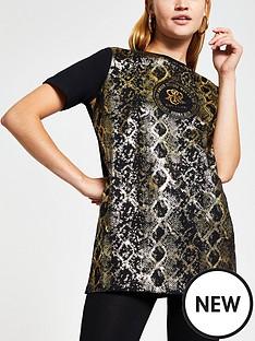 river-island-animal-foil-print-front-t-shirt-black