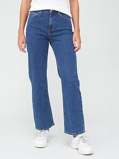 v-by-very-shortnbsphigh-waist-straight-leg-jean-mid-wash