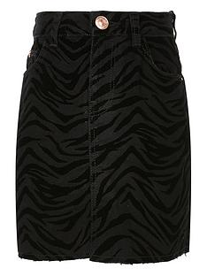 river-island-girls-zebra-flocked-skirtnbsp--black