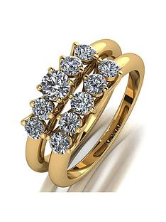 moissanite-moissanite-9ct-yellow-gold-1ct-total-5-stone-bridal-set
