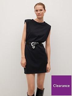 mango-padded-shoulder-t-shirt-dress-black