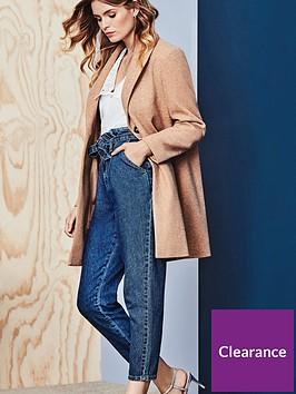 dorothy-perkins-minimal-shawl-collar-coat-camelnbsp