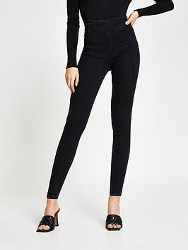river-island-denim-jeggings-black