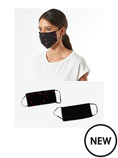 dorothy-perkins-heart-2-pack-face-covering-blacknbsp