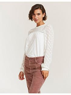 fatface-charlotte-floral-top-ivory