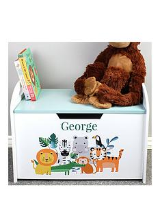personalised-jungle-baby-wooden-toy-chest