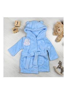 the-personalised-memento-company-personalised-elephant-motif-blue-dressing-gown