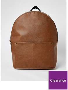 river-island-pebblenbsppu-backpack-tannbsp