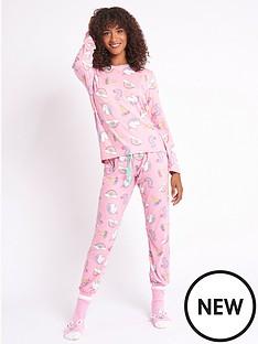 chelsea-peers-nyc-unicorn-pjs-withnbspsleepover-sack-pink