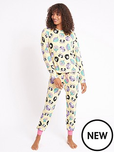 chelsea-peers-nyc-animal-donuts-recycled-long-pjnbspset-yellow