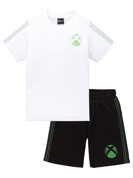xbox-boys-xboxnbsp2-piece-t-shirt-amp-sweat-short-set-white