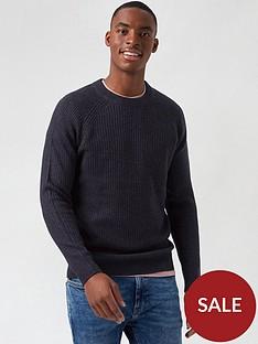 burton-menswear-london-cable-knit-crew-neck-jumper-navy