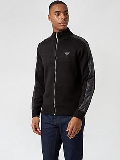 burton-menswear-london-woven-sleeve-knitted-jumper-blacknbsp