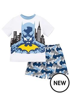 batman-boysnbspcontrast-stitching-shorty-pjs-white