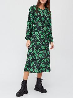 v-by-very-round-neck-curved-seam-midi-dress-floral