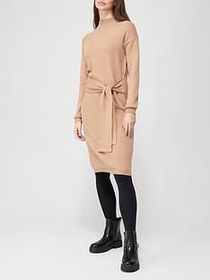 v-by-very-tie-waist-midi-knitted-dress