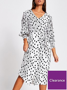 river-island-printed-midi-dress-white