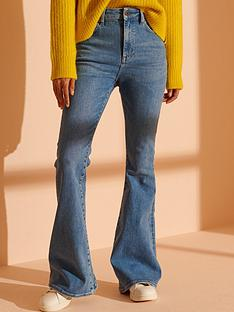 superdry-high-rise-skinny-flare-jeans-blue