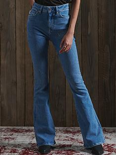 superdry-high-rise-skinny-flare-jeans-light-blue