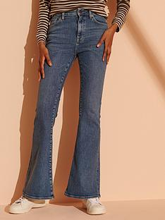superdry-high-rise-skinny-flare-jeans-dark-blue