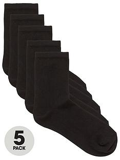 v-by-very-valuenbsp5-pack-ankle-socks-black