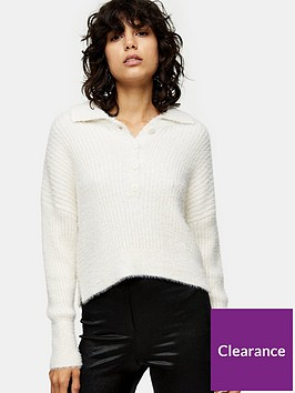 topshop-fluffy-ribbed-polo-jumper--nbspivory