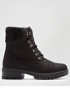 dorothy-perkins-mills-faux-fur-cuff-hiker-boots--nbspblack