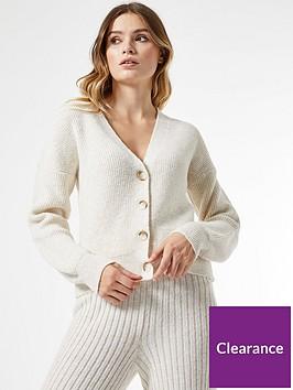 dorothy-perkins-knitted-throughnbspbutton-cardigan-cream